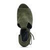 Groene cut-out sandalen met hak