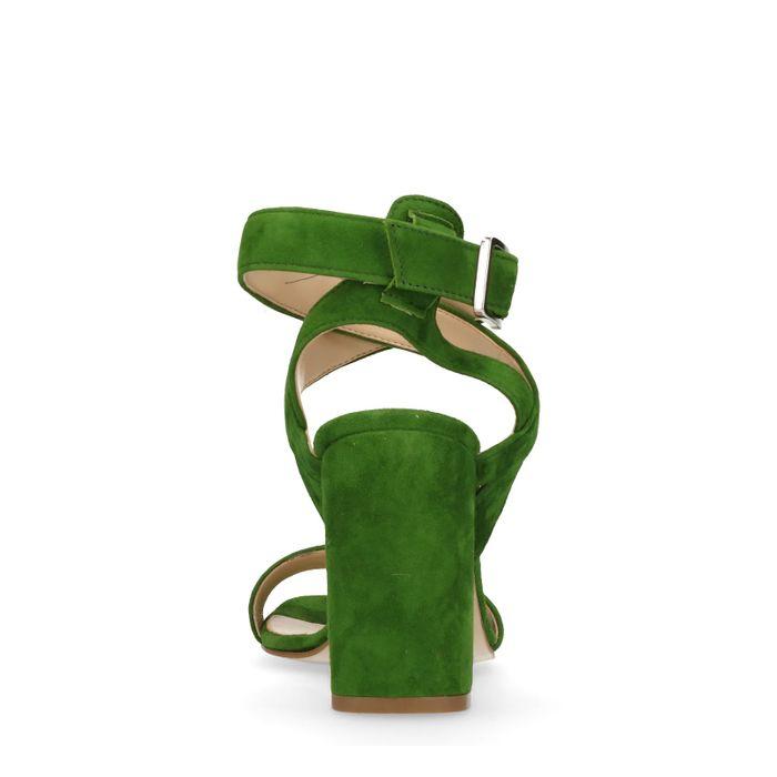 Groene sandalen met hak