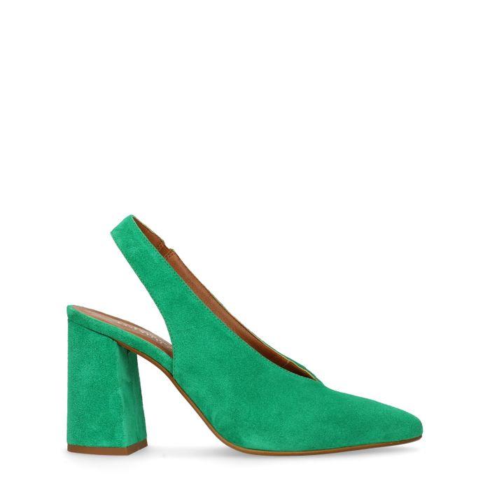 Groene slingback pumps