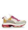 Dad sneakers roze/geel