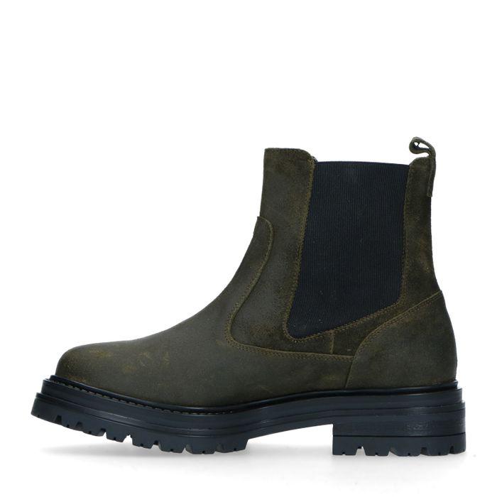 Groene suède chelsea boots