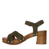 Groene suède sandalen met hak