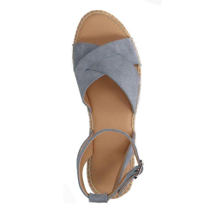 Lichtblauwe plateau sandalen