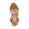 Bruine sandalen met lage hak