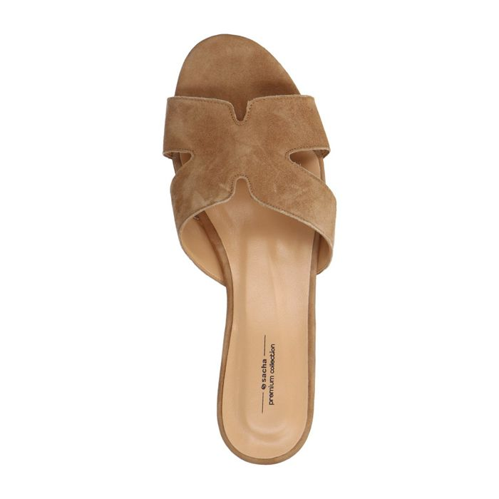Beige suède slippers