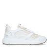 Off white leren sneakers met beige details