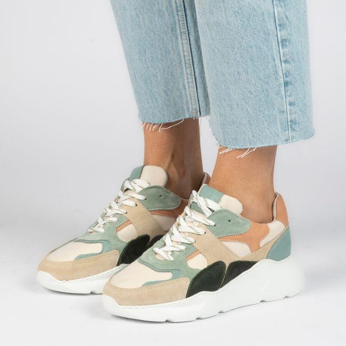 Multicolored suède sneakers