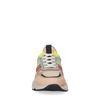 Beige dad sneakers met multicolor details
