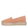Oranje suède platform espadrilles