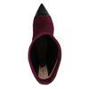 Paarse korte laarzen met hak