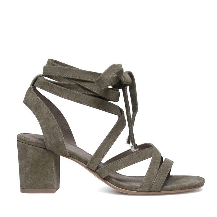 Sandalen met hak groen