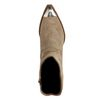 Taupe western boots met metalen neus