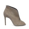 Taupe pumps open met peeptoe