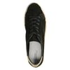 Zwarte lage sneakers met touwzool