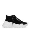 Zwarte dad sneakers met witte zool