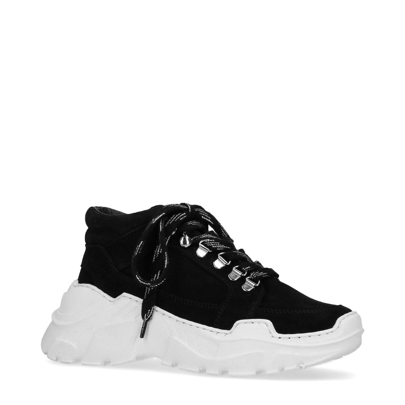 Met Sneakers Damesschoenen Dad Zool Zwarte Witte z8ZYxE