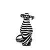 Zebra sandalen met hak