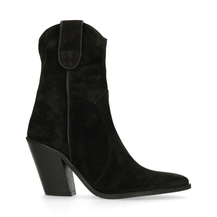 Zwarte korte western laarzen