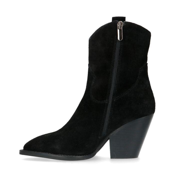Zwarte suède western boots
