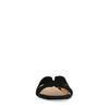 Zwarte suède slippers