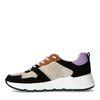Zwarte suède sneakers met gekleurde details