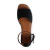 Zwarte suède plateau sandalen