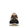 Zwarte sneakers met bruine details