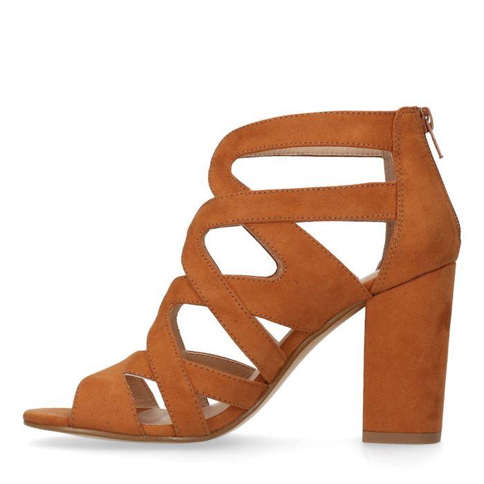 Bruine sandalen met hak
