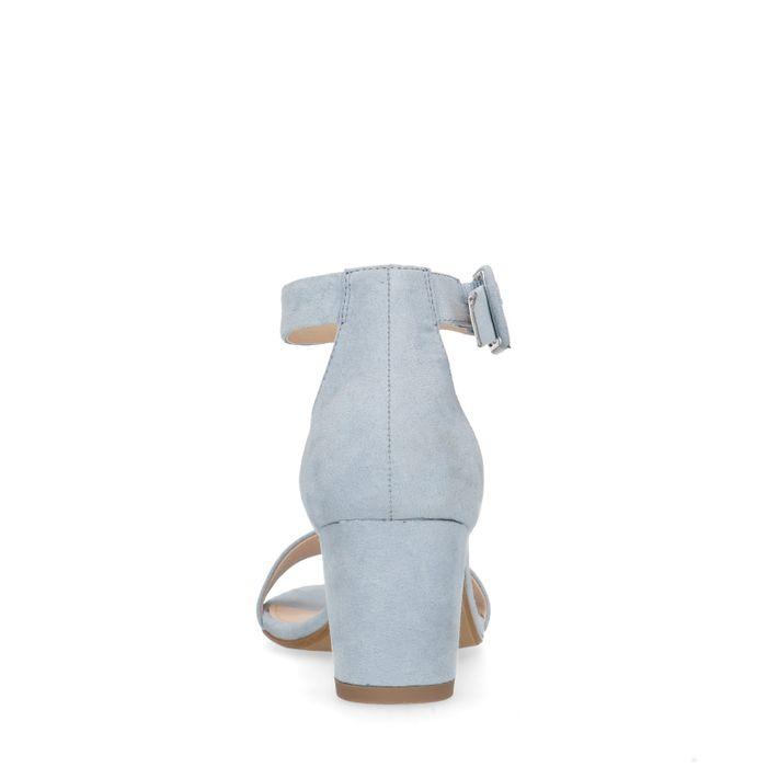 Lichtblauwe sandalen met hak