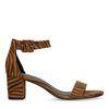 Zebraprint sandalen met hak
