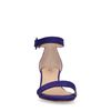 Paarse sandalen met hak