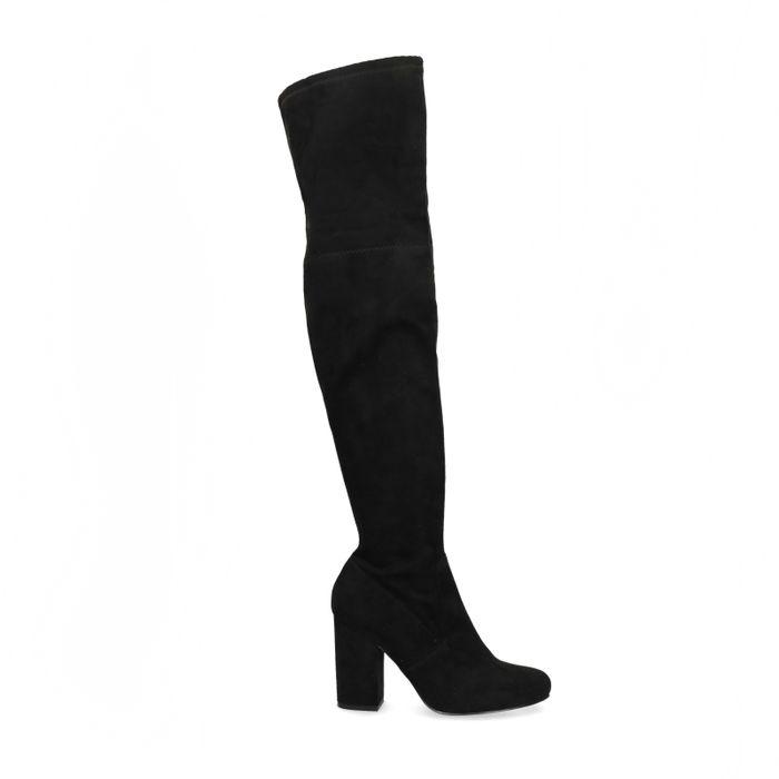 Zwarte overknee laarzen