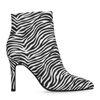 Enkellaarsjes met zebraprint en naaldhak