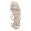 Latte crocoprint sandalen met hak