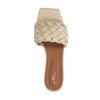 Beige leren slippers met gevlochten band