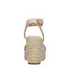 Beige sleehakken met gewoven touwzool