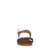 Bruine sandalen met brons detail