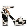 Sandalen met koeienprint en hak