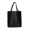 Zwarte shopper met crocoprint