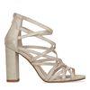 Goudkleurige sandalen met hak