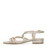 Goudkleurige sandalen met snakeskin