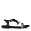 Zwarte sandalen met pompons