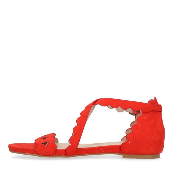 Koraal rode sandalen