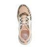 Roze dad sneakers met zebraprint en wit detail