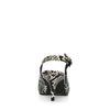 Snakeskin pumps met open hiel en kitten heel