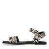 Sandalen met snakeskin en studs