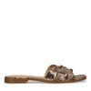 Snakeskin slippers met bandjes