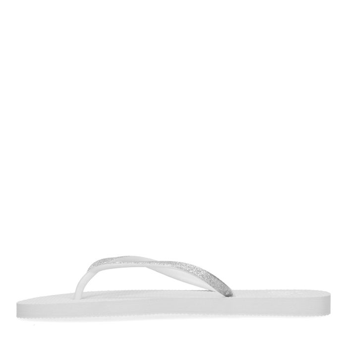 Witte slippers met glitters