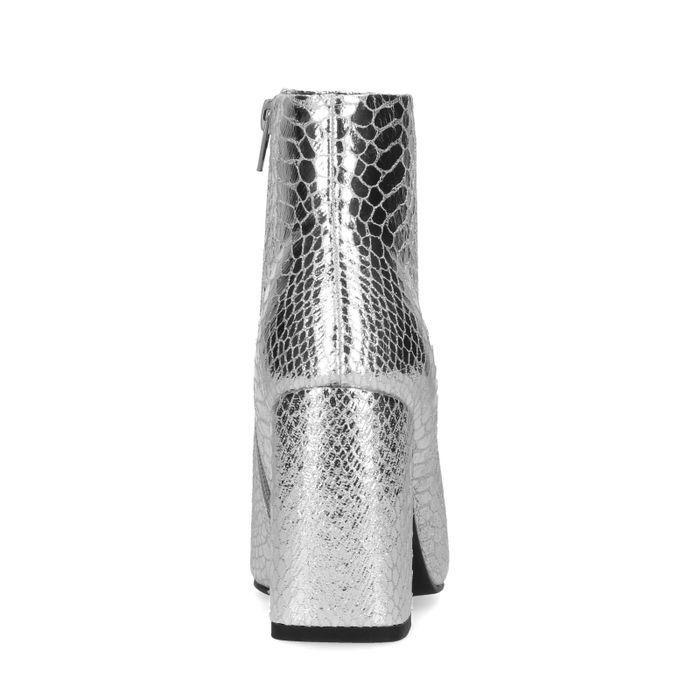 Zilveren enkellaarsjes met hak