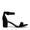 Minimal sandalen met hak zwart